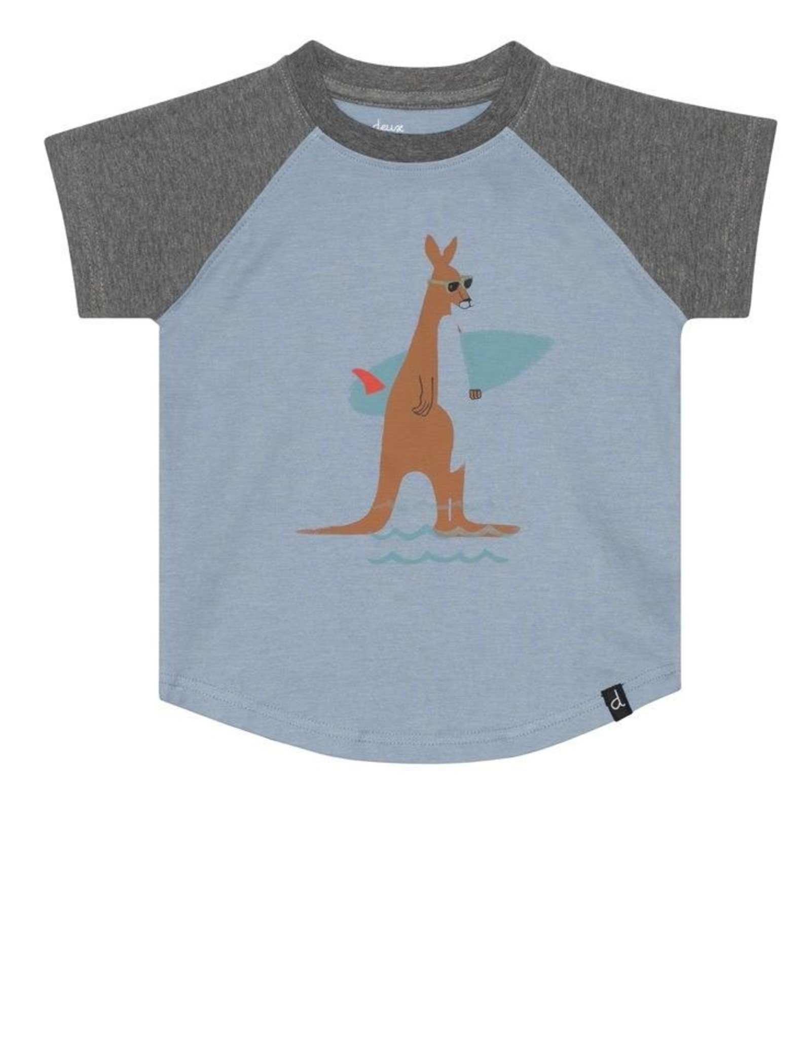 Deux Par Deux Short Sleeve Striped T-Shirt with Pocket.
