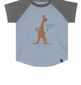Deux Par Deux Raglan T-Shirt with Kangaroo Print