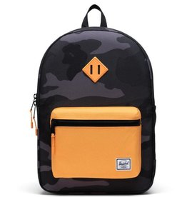 Herschel Supply Co. Herschel Supply, Heritage Backpack | Youth XL, Night Camo/Blazing Orange, 22L