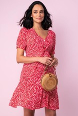 Seraphine Daffodil Red Floral Front Tie Maternity Dress