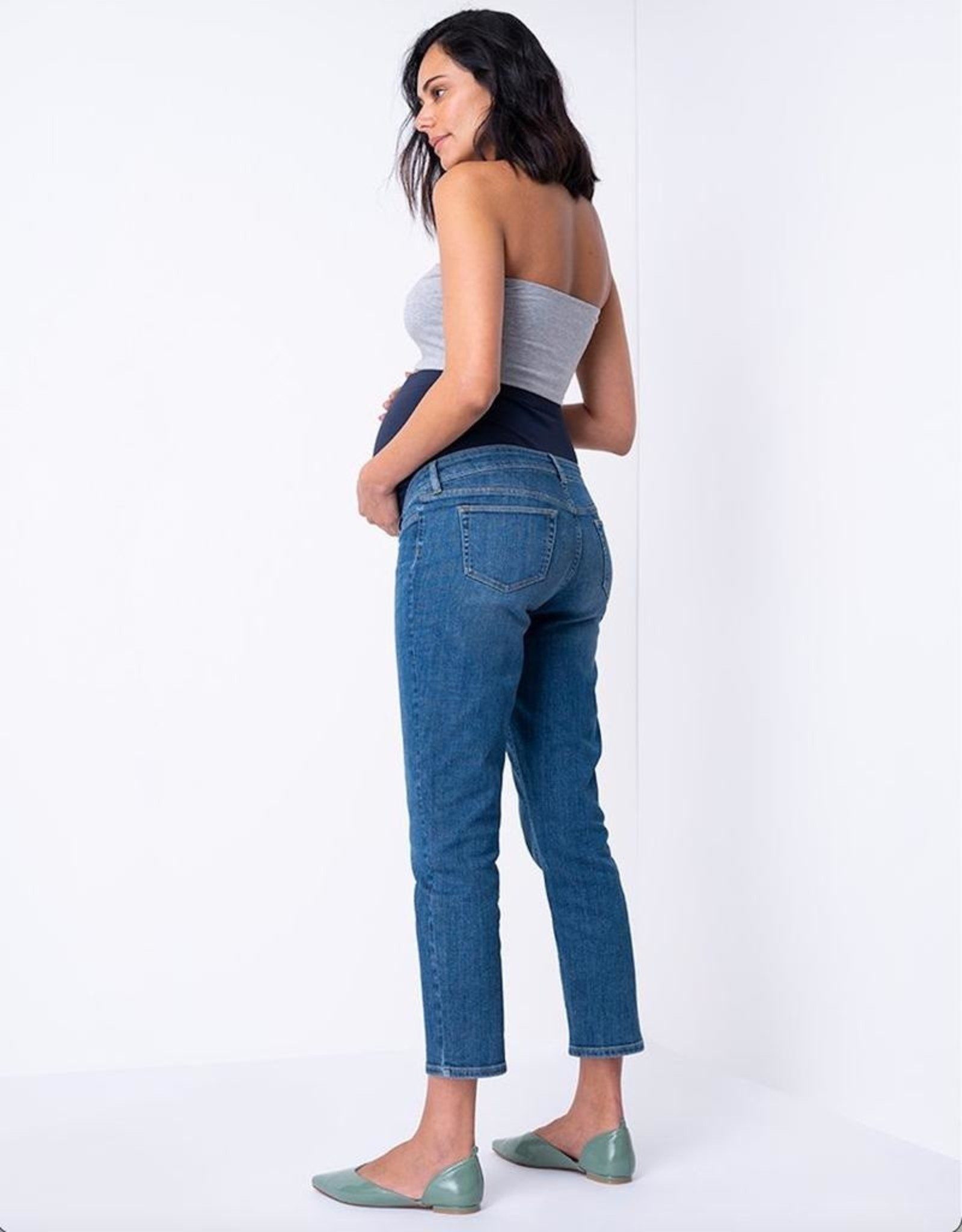 Seraphine Callum Cropped Straight Leg Maternity Jeans