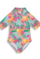 Birdz Children Pink Jungle Girlz  Surfer Swimsuit 