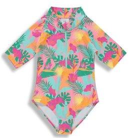 Birdz Children Birdz Children, Pink Jungle Girlz  Surfer Swimsuit , Multi, 10yrs