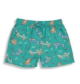 Birdz Children Surf Ride Green Kidz |Swim Shorts|