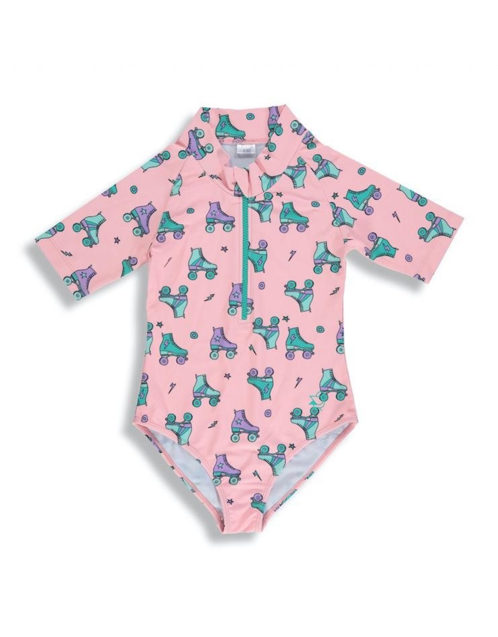 Birdz Children Tropical Peach Roller Blades Girlz  Surfer Swimsuit 