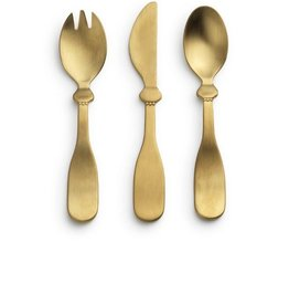 Elodie Details Matt gold/Brass Children's Cutlery set