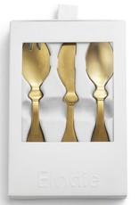 Elodie Details Matt gold/Brass Children's Cutlery set