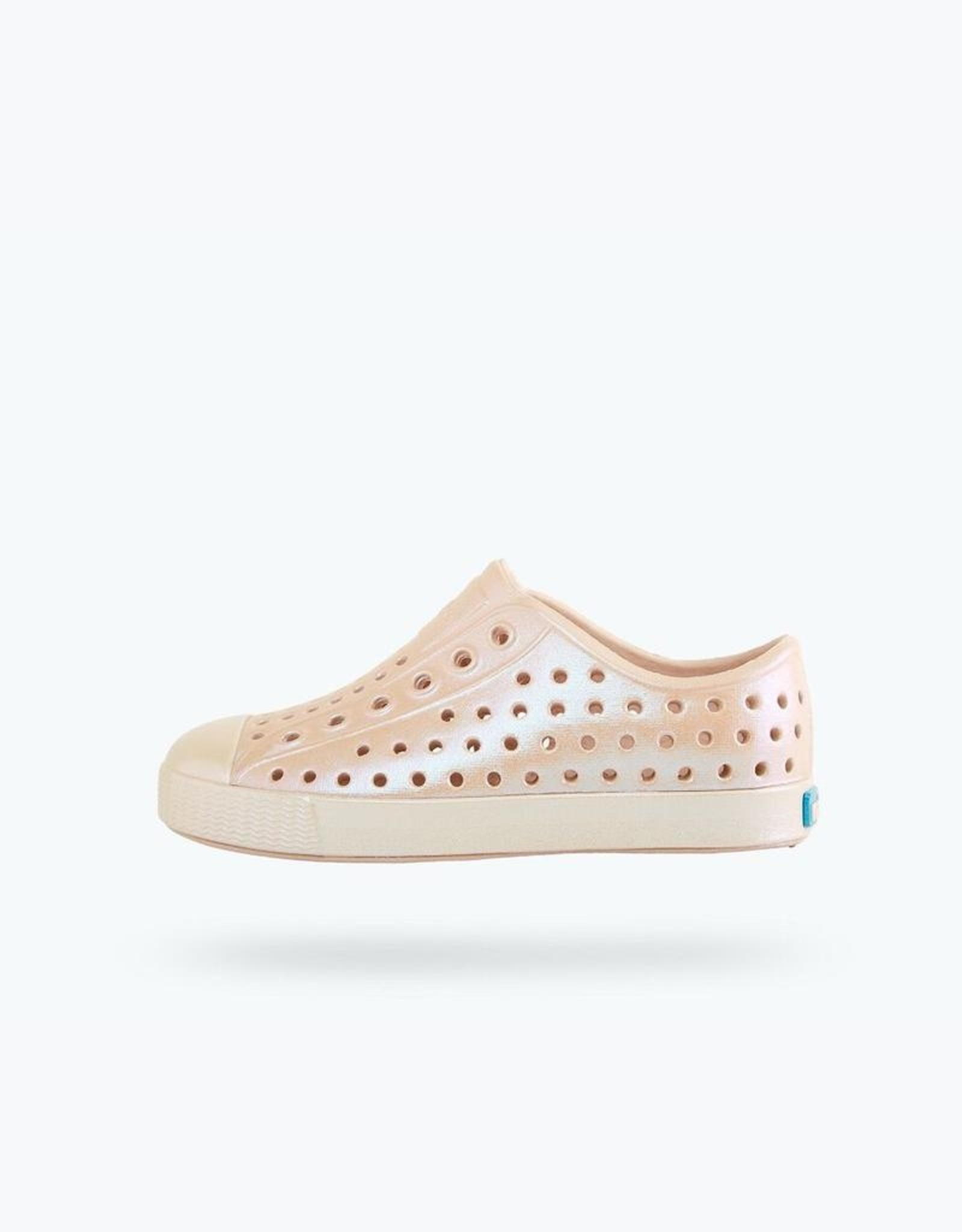 Native Shoes Jefferson Iridescent Youth Rock Salt Pink/ Mineral Pink/ All Over Shine