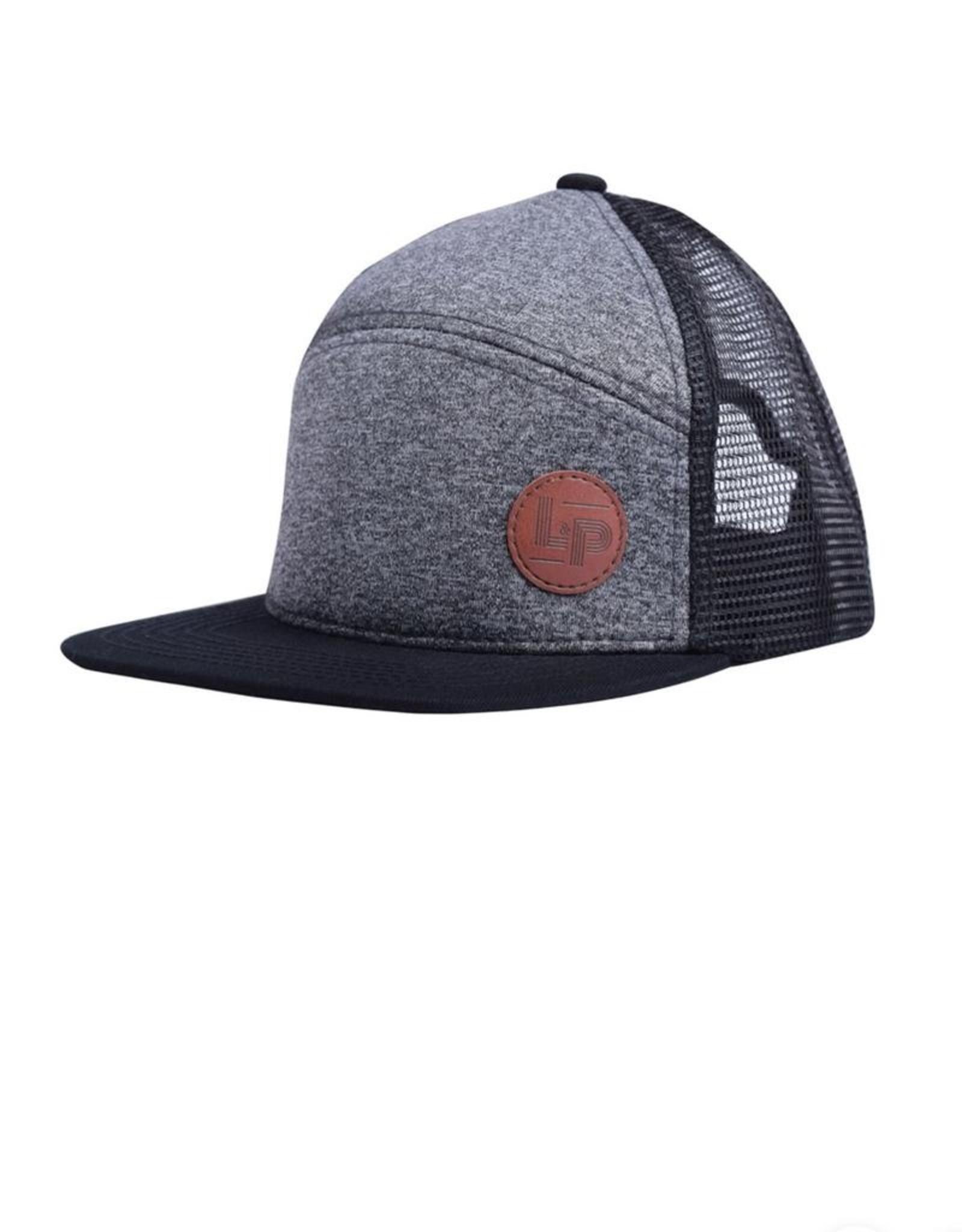 L&P Apparel Dark Grey & Black Orleans Snapback Cap