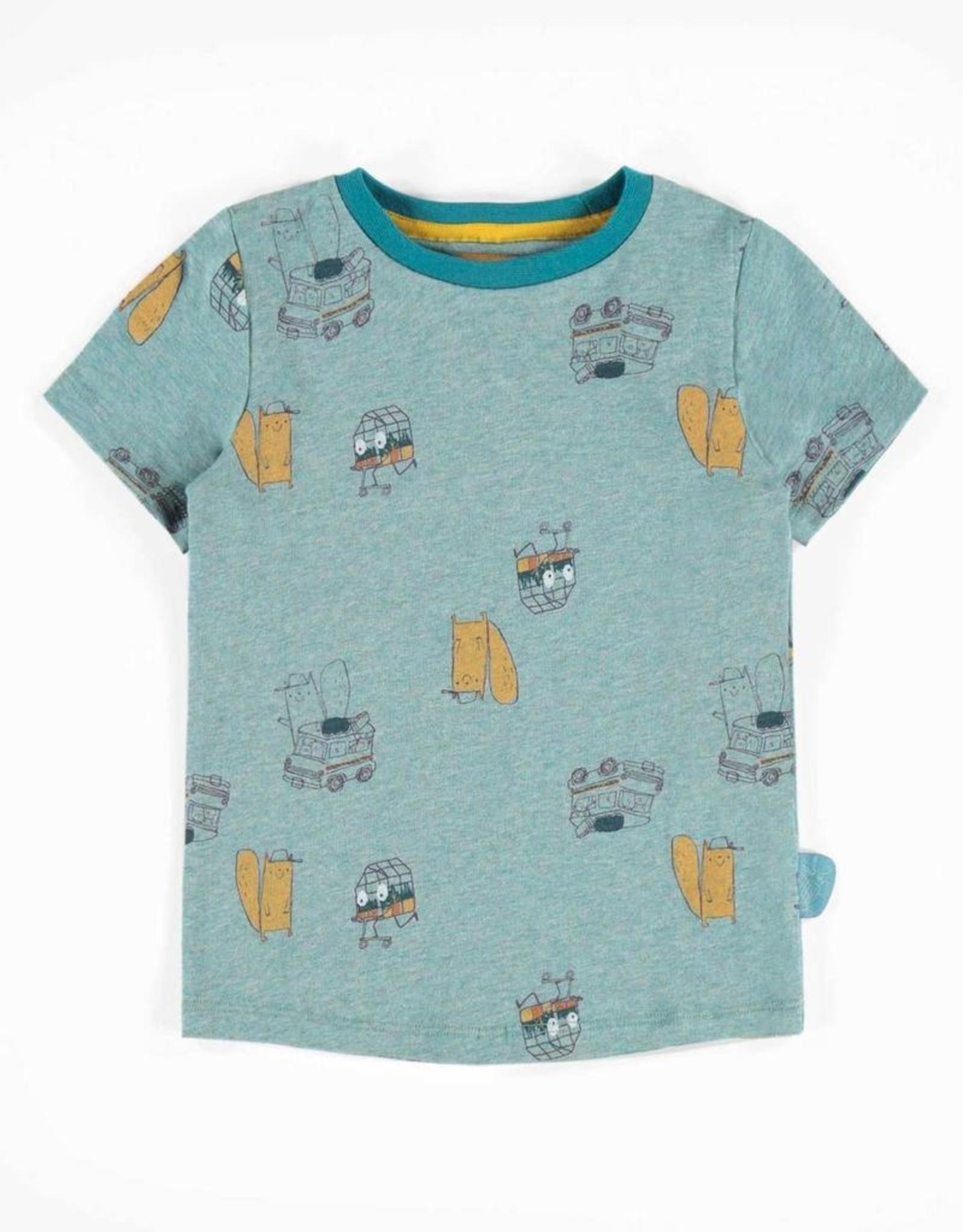 Souris Mini Blue Printed Short-Sleeve T-shirt