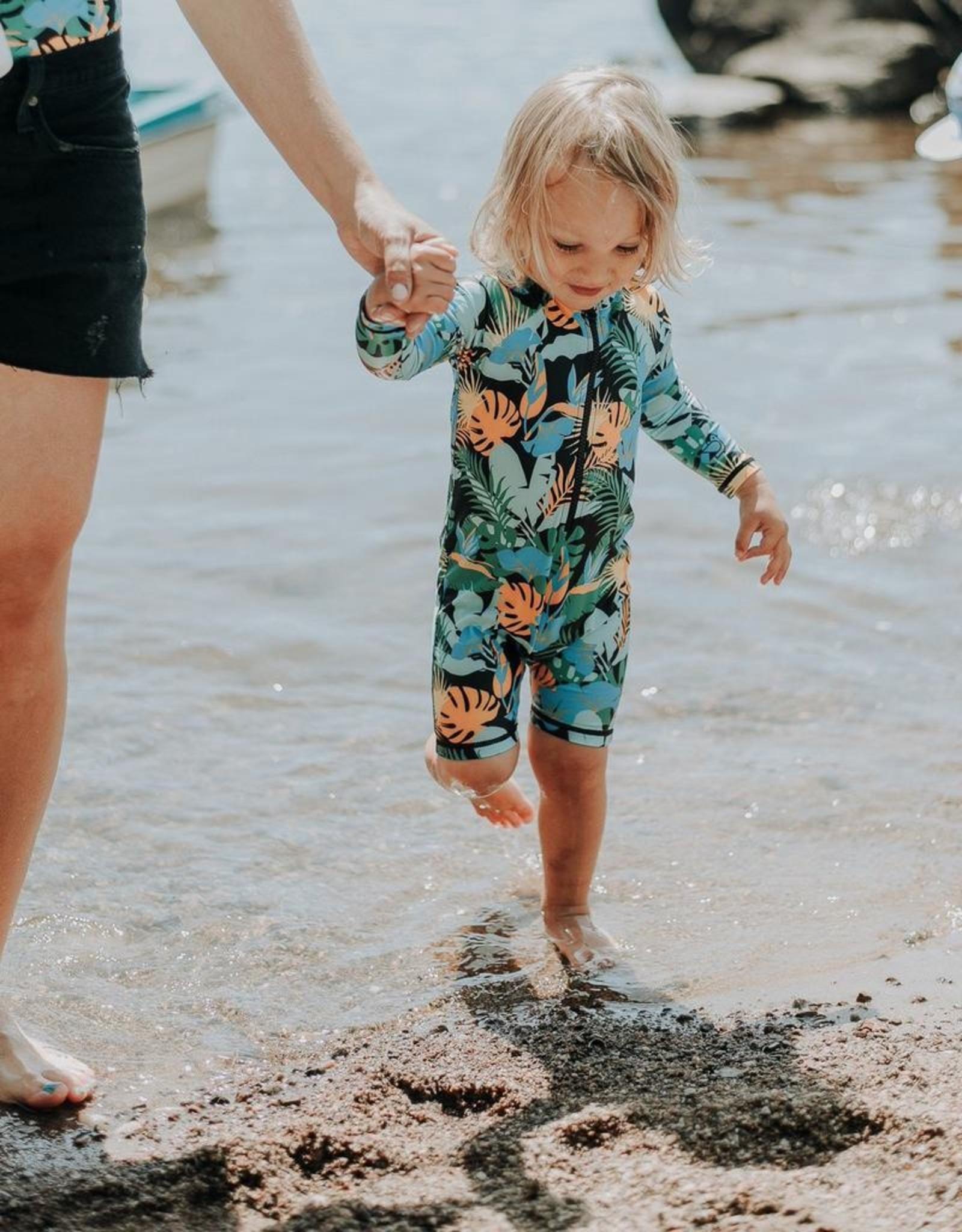 Birdz Children Baby Black Jungle One Piece  Swimsuit  
