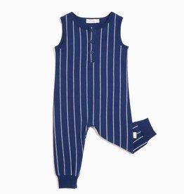 Boys Blue Stitch Stripe Playsuit