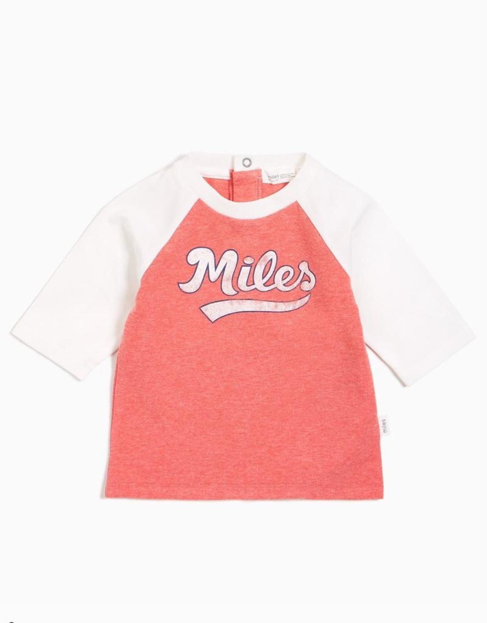 Rouge Miles Print Raglan Baseball Tee
