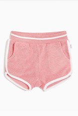 Girls Melon Terry Cloth Shortie Shorts