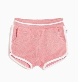 Girls Melon Terry Cloth Shortie Shorts