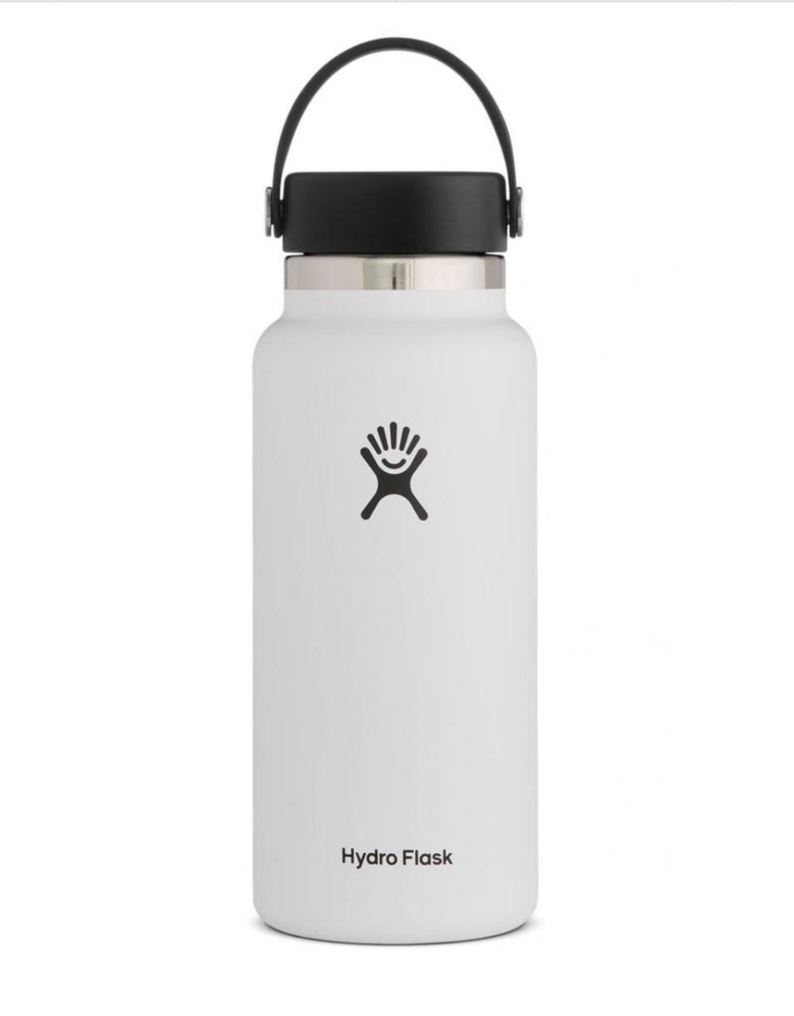 Hydro Flask 32 oz Wide Mouth Flex Cap Bottle in White