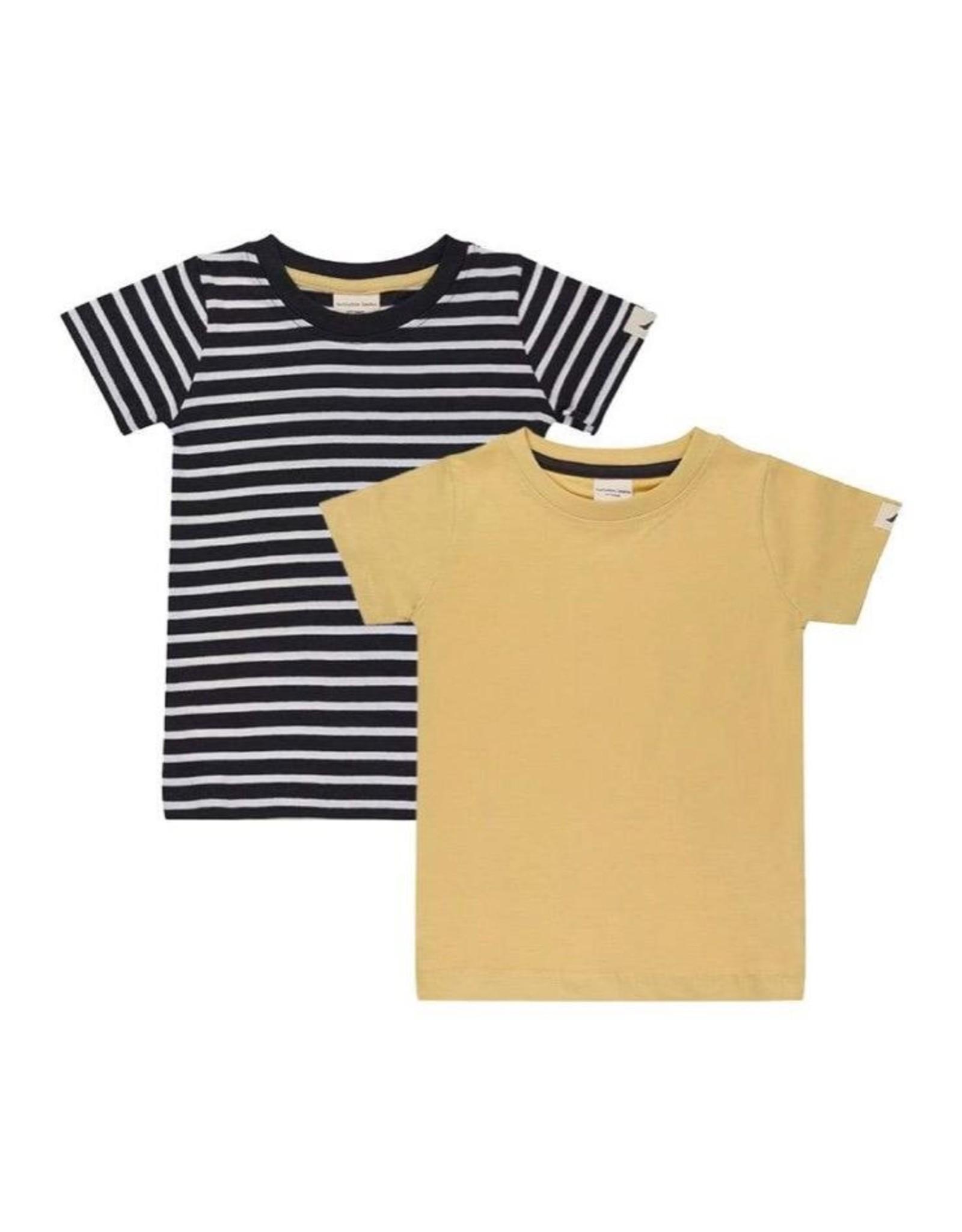 Turtledove London 2Pk Layering T- Stripe/Sunshine