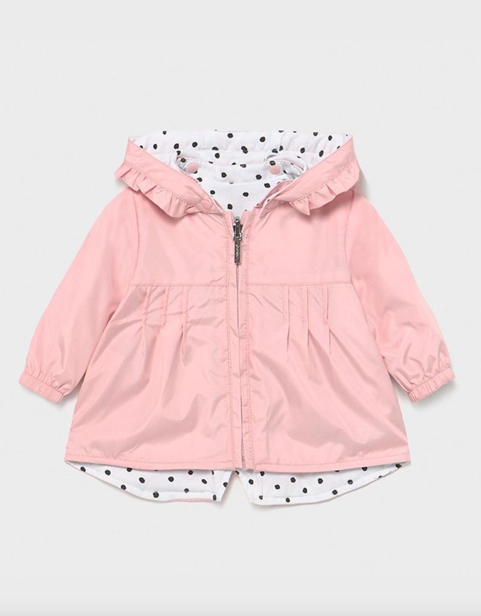 Mayoral Pale Blush Reversible Windbreaker Jacket