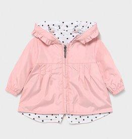 Mayoral Pale Blush Reversible Baby Windbreaker Jacket