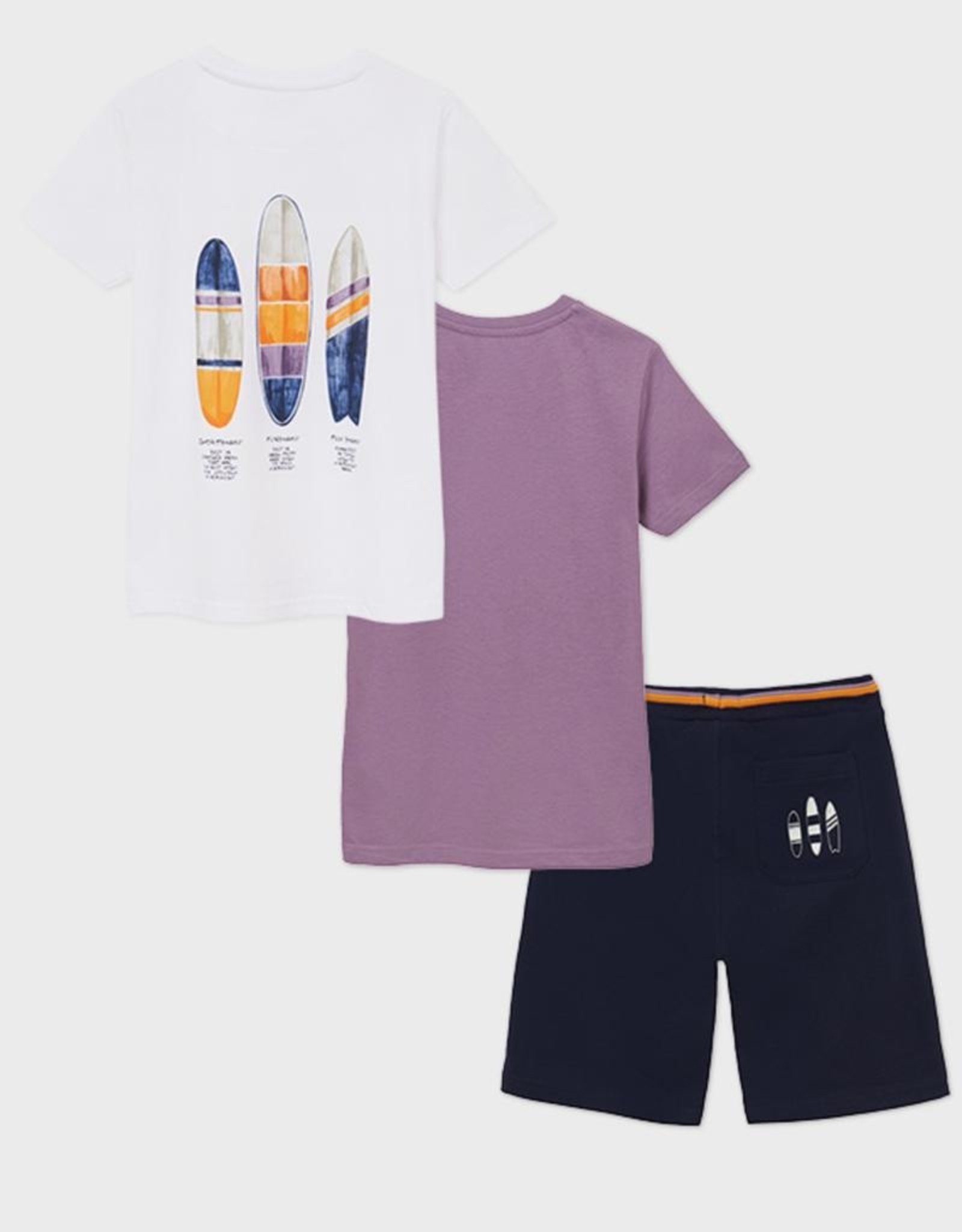 Mayoral 2 Surf Pint T-shirts Set with Shorts