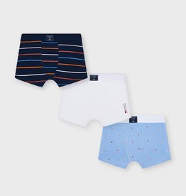 Mayoral Lavender Printed Boxer Shorts Set 3 pack