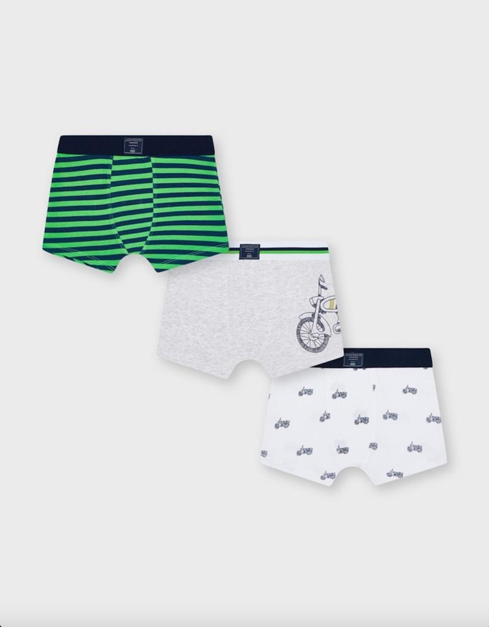 Mayoral Matcha Bicycle Printed Boxer Shorts Set 3 pack