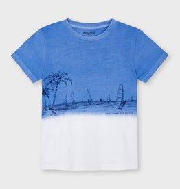 Mayoral Print Short Sleeved Dip Dye T-Shirt