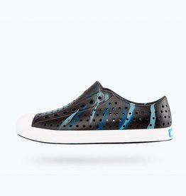 Native Shoes Jefferson Jiffy Black, Shell White & Challenger Marble Marbled Adult