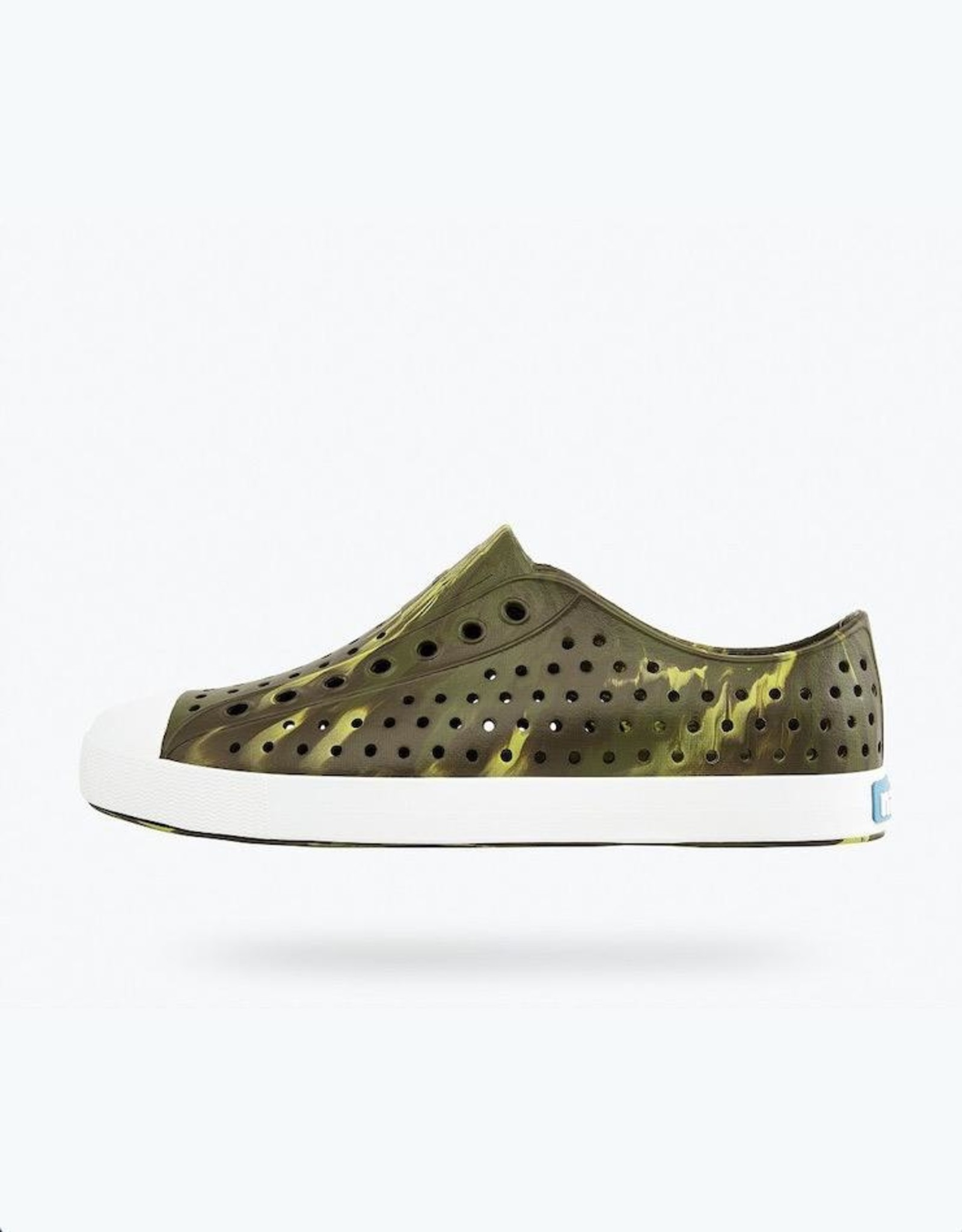 Native Shoes Jefferson Tuff Green/ Shell White/ Olivine Marble Marbled Adult