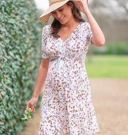 Seraphine Daffodil White Floral Front Tie Maternity Dress