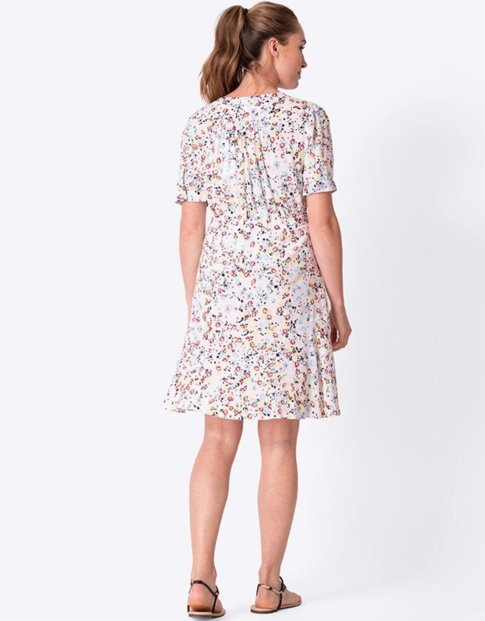 Seraphine White Floral Front Tie Maternity Dress