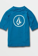 Little Boys Lido True Blue Short Sleeve UPF 50 Rashguard