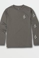 Little Boys Deadly Stones Grey Long Sleeve UPF 50 Rashguard
