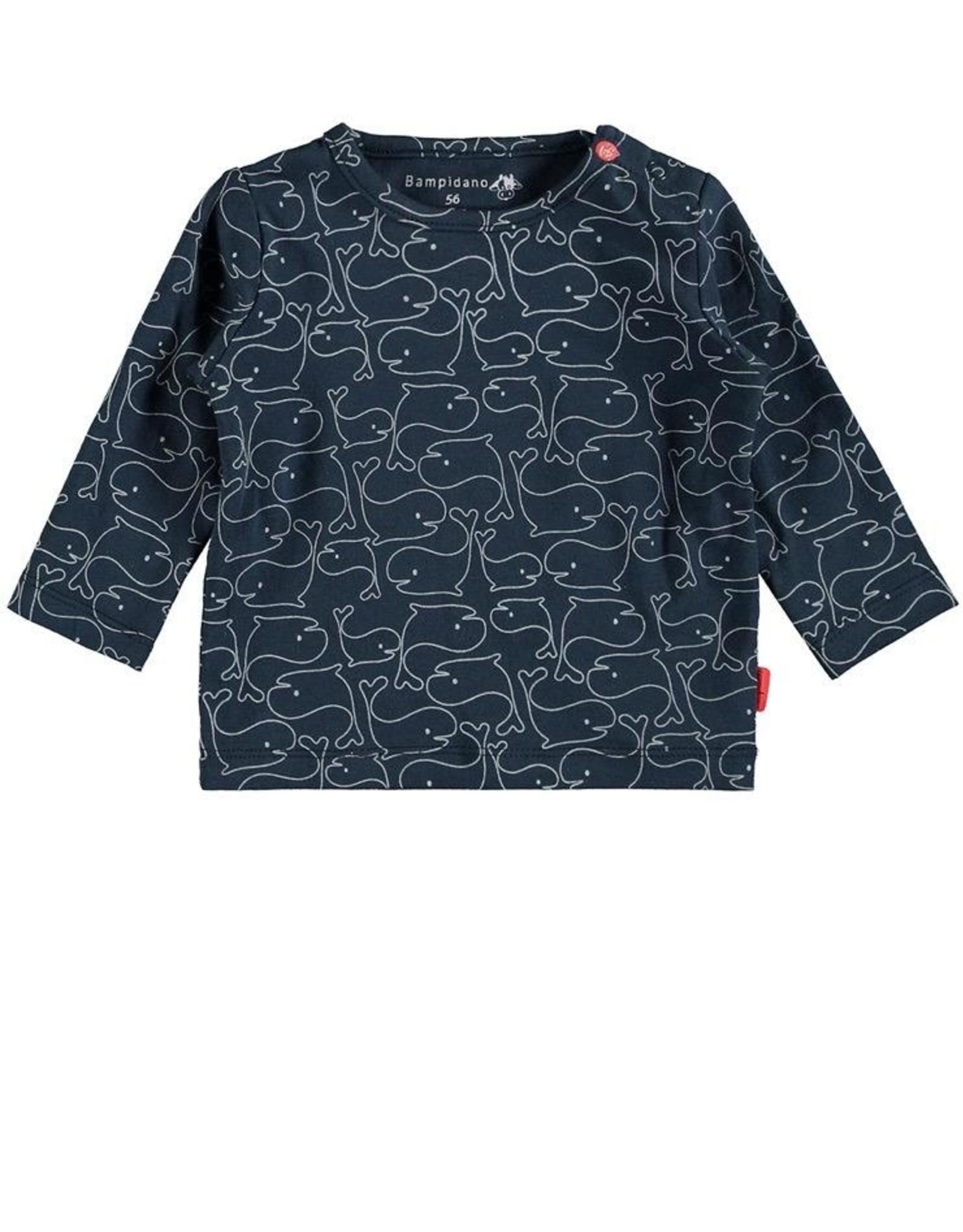 Bampidano Whale Print Long Sleeve Danique Top