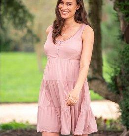 Seraphine Brandie, Tiered Rose Pink Maternity Dress