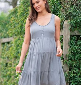 Seraphine Brandie, Tiered Sky Blue Maternity Dress
