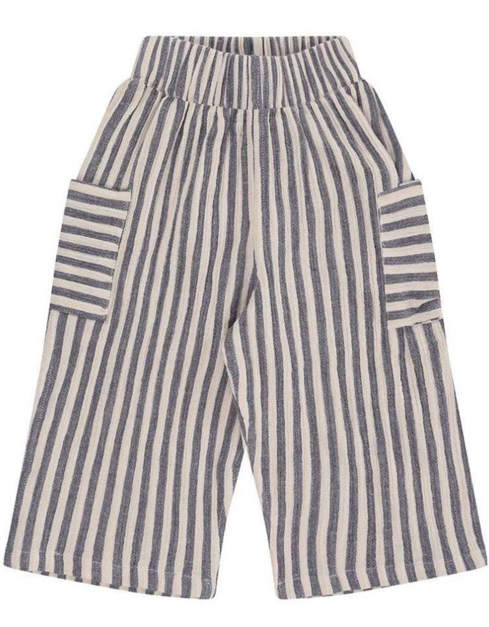 Turtledove London Reversible Summer Trouers - Crinkle Stripe