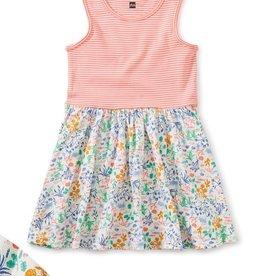 Tea Collection Print Mix Skirted Dress