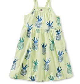 Tea Collection Pineapples in Portugal Spaghetti Strap Trapeze Dress, Pineapple, 7yrs