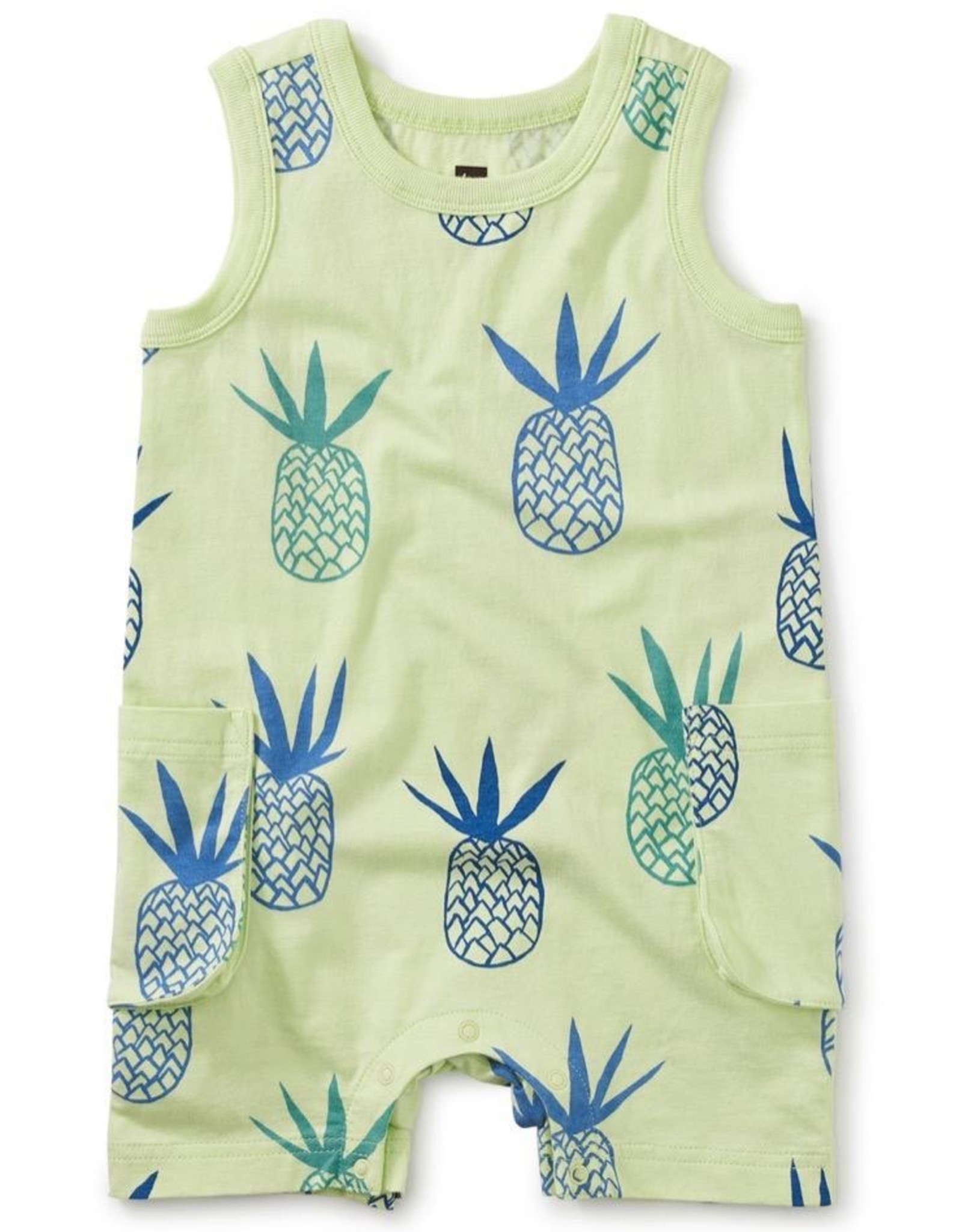 Tea Collection Pineapples Cargo Pocket Tank Baby Romper