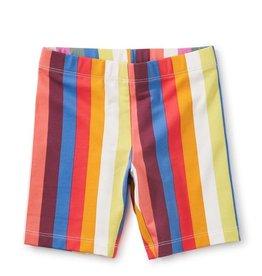 Tea Collection Vibrant Stripe, Printed Bike Shorts, Vibrant Stripe, 6yrs