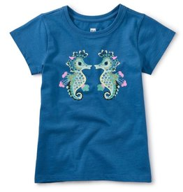 Tea Collection Seahorse Play Graphic Tee, Imperial, 7yrs