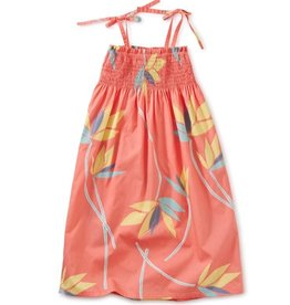 Tea Collection Bird of Paradise Tie Shoulder Midi Dress