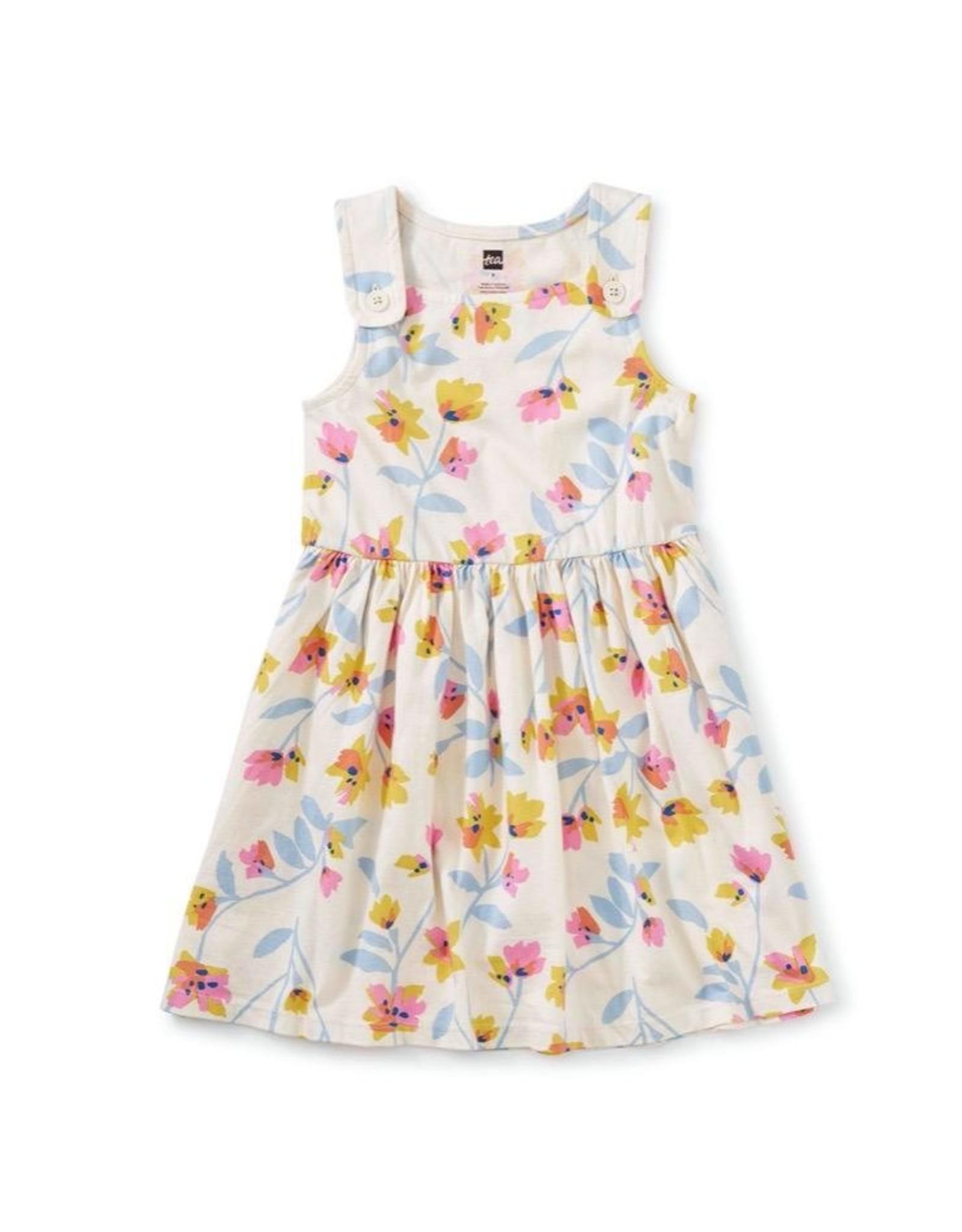 Tea Collection Pastel Floral Print Button Shoulder Dress