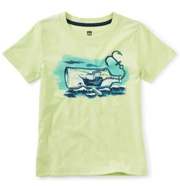 Tea Collection Ship in a Whale Bottle Tee, Lime Ice, 8yrs