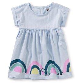 Tea Collection Rainbow Turtle Printed Empire Baby Dress