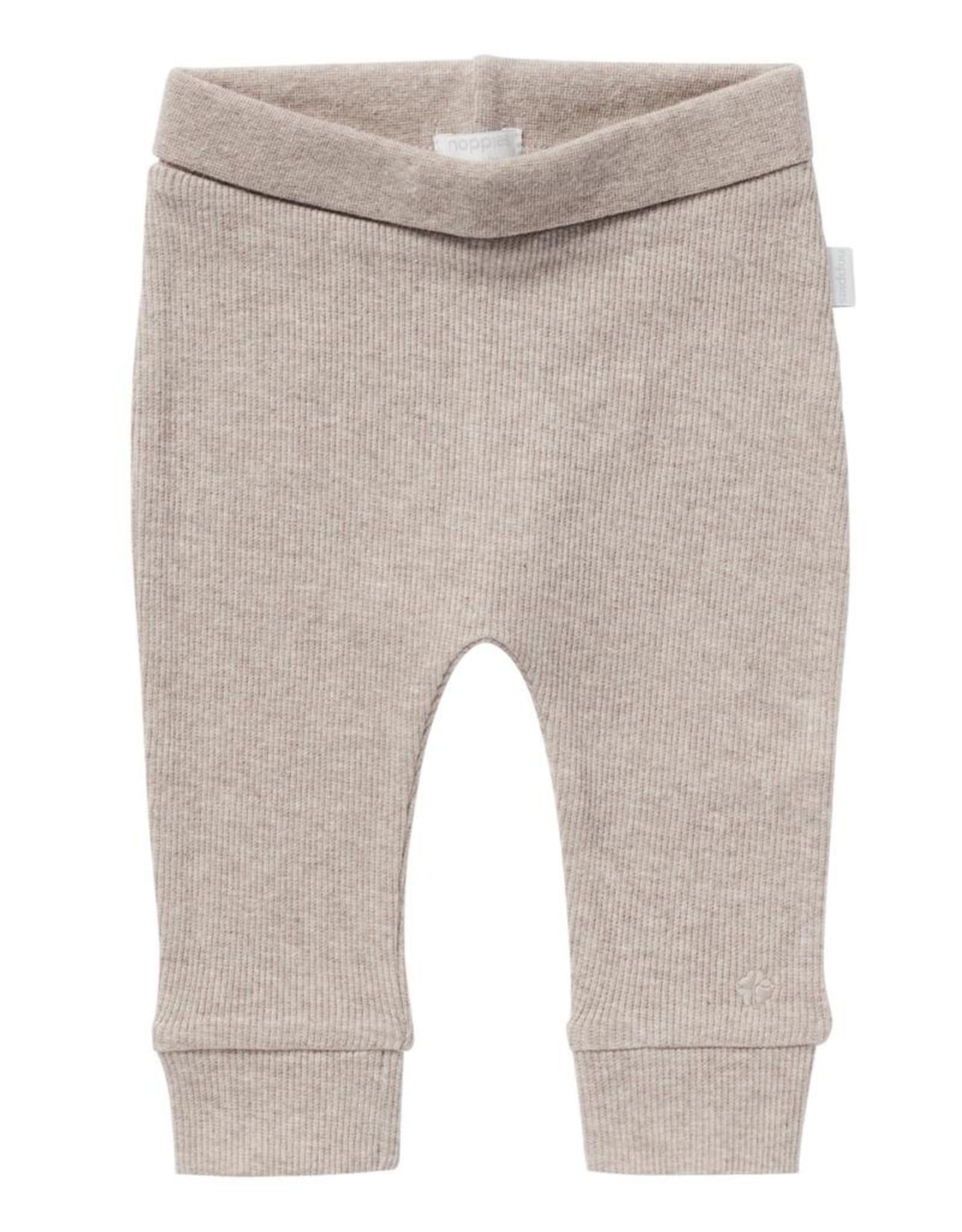 Noppies Kids Naura Ribbed Pants in Taupe