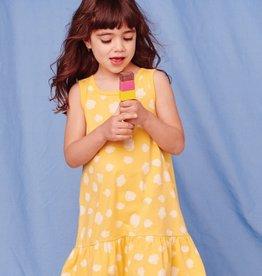 Tea Collection Polka Dot Print Tank Dress, Yellow/White, 6yrs
