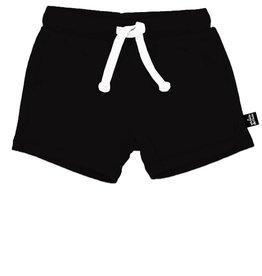 Whistle & Flute Black Bamboo Drawstring Shorts