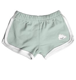 Whistle & Flute Kawaii Cloud Running Shorts in Mint
